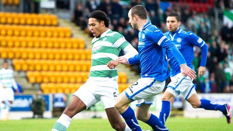 Virgil van Dijk scores the decisive goal as Celtic beat St Johnstone
