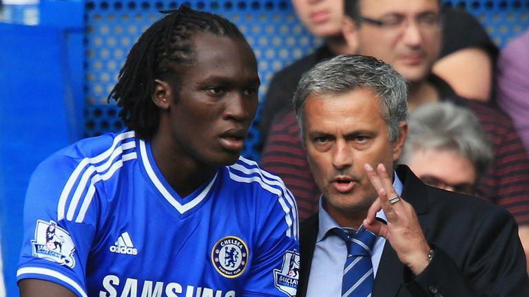 Romelu Lukaku (l) denies any rift between himself and Jose Mourinho (r)