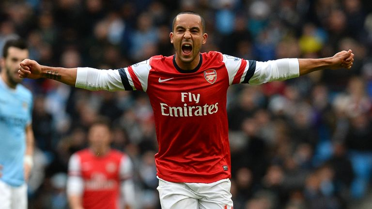 Theo Walcott soon squared proceedings, taking advantage of some chaotic City defending