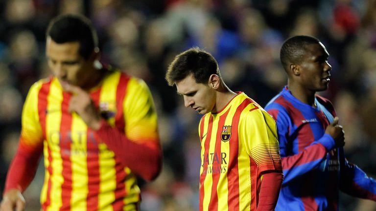 Lionel Messi: Frustrated against Levante