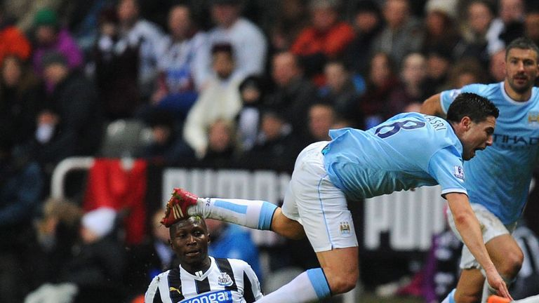 Samir Nasri: Could be seriously injured after being stretchered off against Newcastle