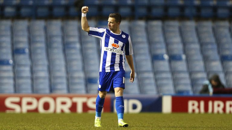 Chris Maguire: Salutes his opening goal