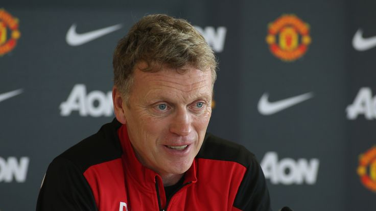 Manchester United boss David Moyes at Aon Training Complex on January 27, 2014 in Manchester, England.