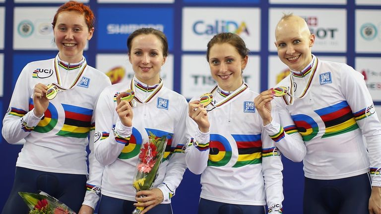Joanna's team pursuit team-mates will become her rivals in Glasgow
