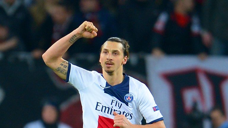 Zlatan Ibrahimovic: Netted a double to ensure an easy win over Bayer Leverkusen