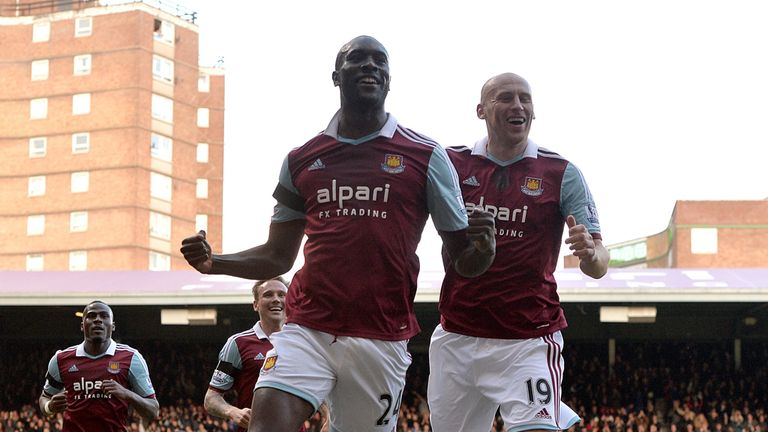 Carlton Cole: Celebrates putting West Ham in front