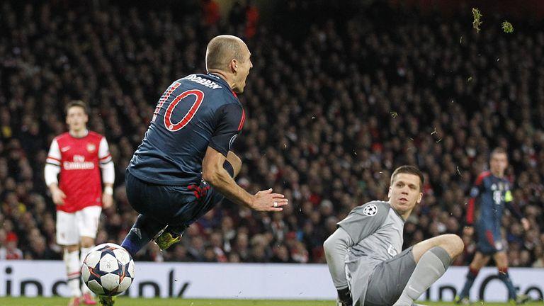 Arjen Robben: Brought down by Szczesny