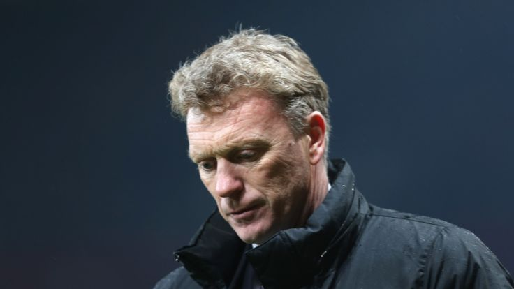 United boss David Moyes at Old Trafford on March 25, 2014 in Manchester, England.