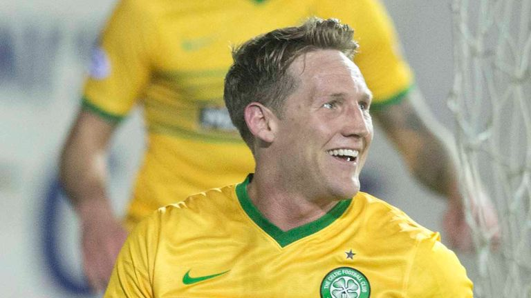 Kris Commons: Hat-trick for Celtic at Rugby Park