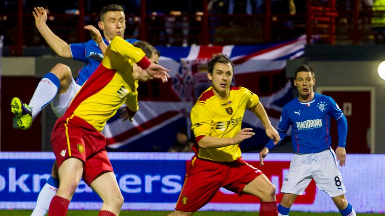 Fraser Aird: Opens the scoring at New Douglas Park