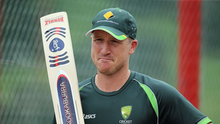 Brad Haddin: Holds his Kookaburra Bubble proudly during a practice session