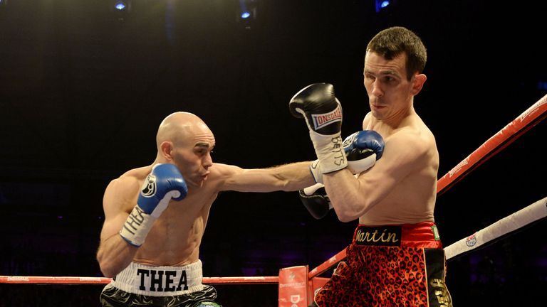 Stuart Hall (L): Retained IBF bantamweight title after disappointing end to clash with Martin Ward