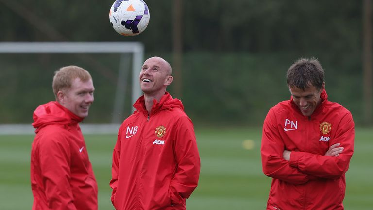 Nicky Butt (centre) and Phil Neville (right) set to learn fate