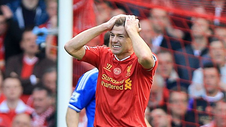 Gerrard: Liverpool saw their title hopes fade in the final games of last season