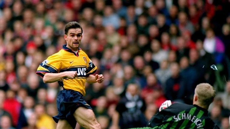 Marc Overmars helped Arsenal to the double in 1997/98