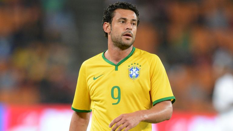 Fred of Brazil during the International Friendly match between South Africa and Brazil at FNB Stadium