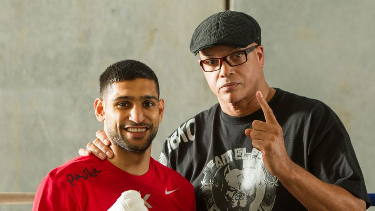 Virgil Hunter (R), with Amir Khan, has been recovering from a health scare