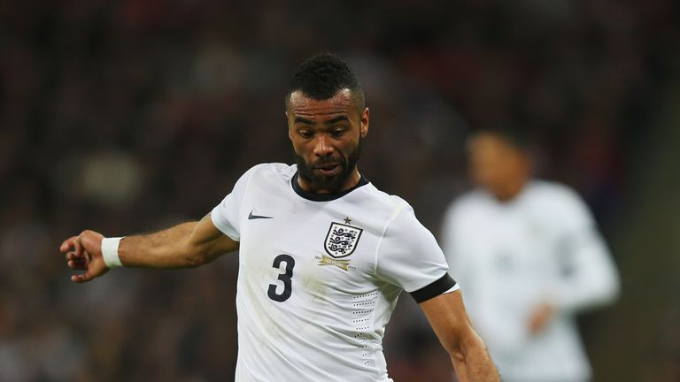 Ashley Cole of England in action during the International Friendly match against Denmark at Wembley Stadium in March 2014