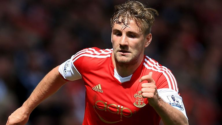 SOUTHAMPTON, ENGLAND - APRIL 26:  Luke Shaw of Southampton in action during the Barclays Premier League match between Southampton and Everton