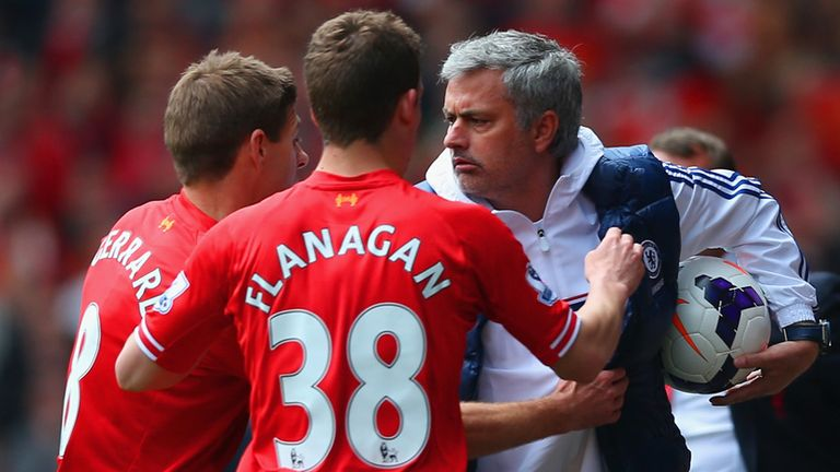 Jose Mourinho has had some memorable battles with Liverpool down the years