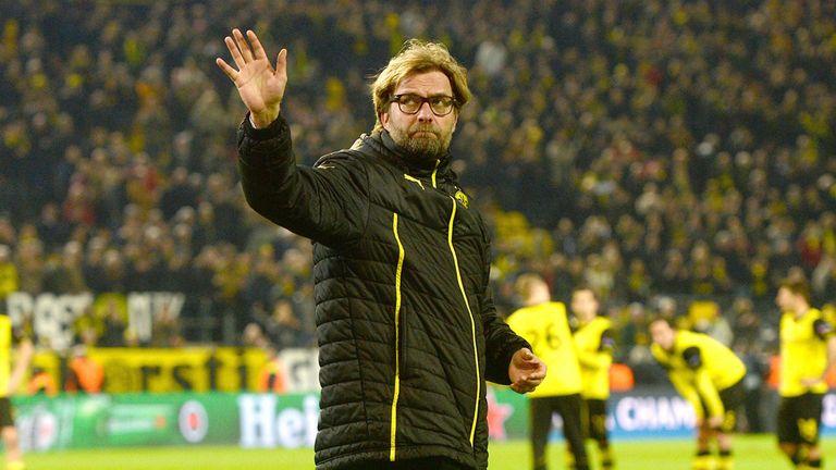 Dortmund's head coach Juergen Klopp waves while leaving after the UEFA Champions League quarter-final, second leg match Borussia Dortmund vs Real Madrid