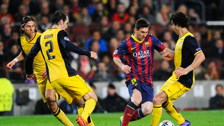 Lucky number six? Messi hasn't scored against Atletico Madrid in their last five meetings.