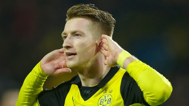 Marco Reus doubled Dortmund's lead on the night and reduced their deficit to one as he fired home a rebound from Robert Lewandowski's shot