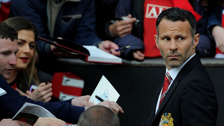 Then interim manager, Giggs brought himself on for his final appearance against Hull in 2014