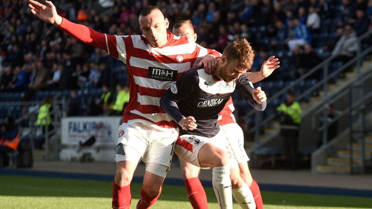 Hamilton beat Falkirk to book a Premiership play-off final place