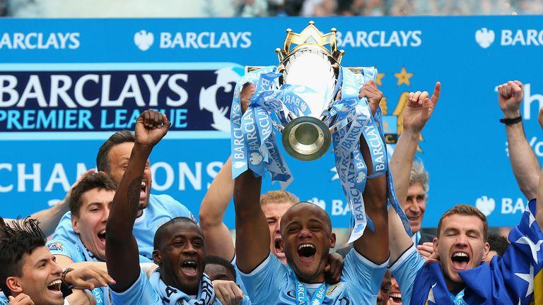 Captain Vincent Kompany will lift the Premier League trophy for a third time