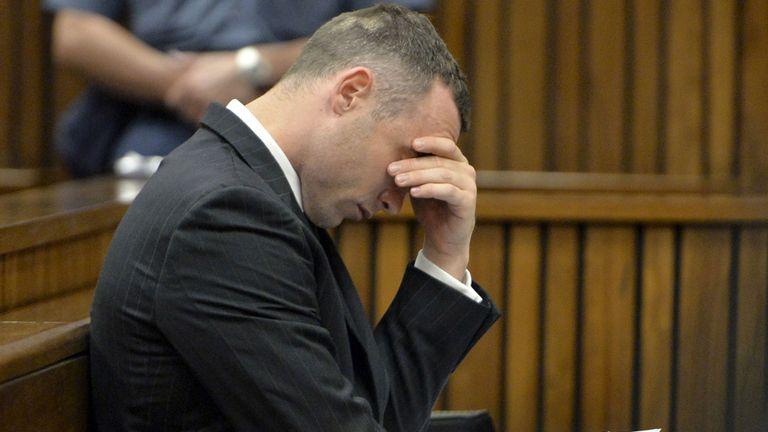 Oscar Pistorius during his trial.