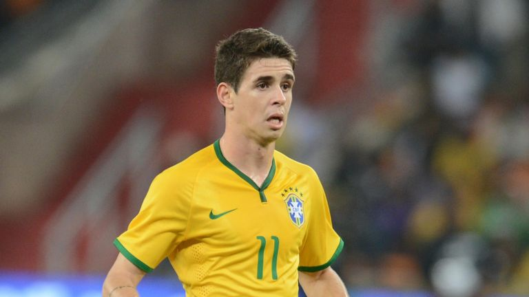 JOHANNESBURG, SOUTH AFRICA - MARCH 05: Oscar of Brazil during the International Friendly match between South Africa and Brazil at FNB Stadium on March 05,