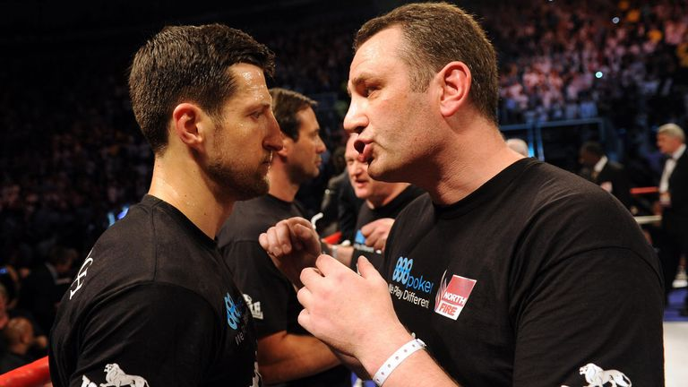 Rob McCracken (right) was the man behind Carl Froch