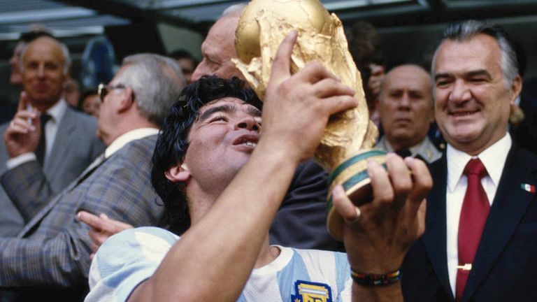 A Diego Maradona-inspired Argentina won the 1986 tournament in Mexico