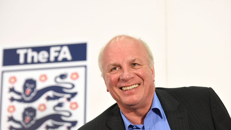 FA Chairman Greg Dyke smiles during the FA Chairman's England Commission Press Conference at Wembley