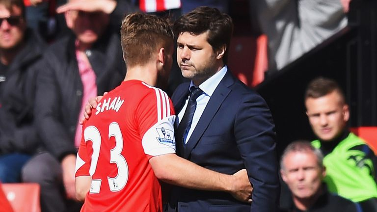 Pochettino worked with Man Utd's Luke Shaw at Southampton