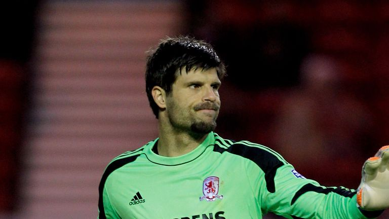 Dimitrios Konstantopoulos: Has become first-choice goalkeeper at Boro