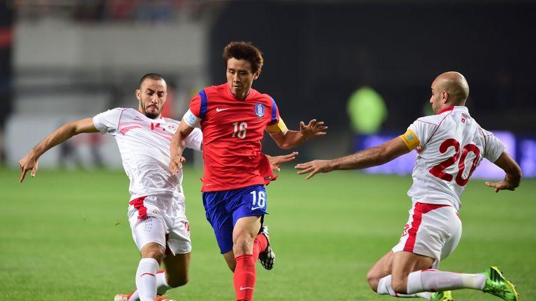 Koo Ja-Cheol: In action against Tunisia