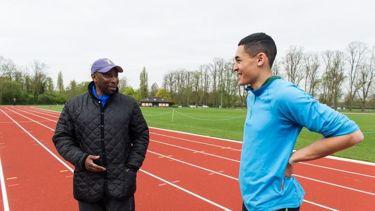 Louis Persent in training with Tony Lester