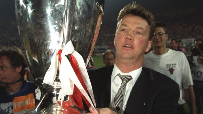 Van Gaal won the Champions League during his time with Ajax