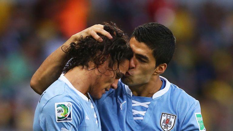 Edinson Cavani and Luis Suarez: Team-mates with Uruguay