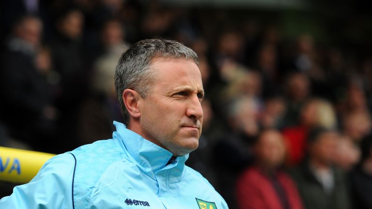 NORWICH, ENGLAND - MAY 11: Neil Adams, manager of Norwich City looks on during the Barclays Premier League match between Norwich City and Arsenal at Carrow
