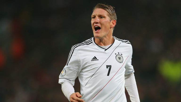 of Germany battles for the ball with of Ireland during the FIFA 2014 World Cup Qualifier Group C match between Germany and Republic of Irelan