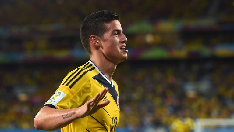 James Rodriguez upset the odds by topping the charts in Brazil