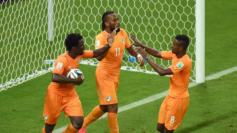 The introduction of Didier Drogba helped Wilfried Bony and Ivory Coast take the points