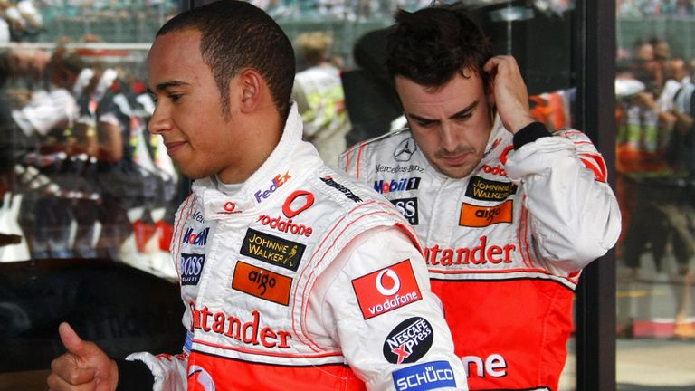 New kid on the block: Alonso met his match in a rookie Lewis Hamilton in 2007