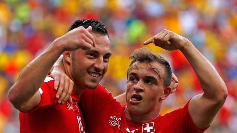 Shaqiri and Drmic: Proved to be too hot to handle