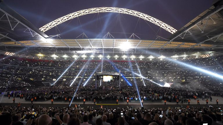 A general view of Wembley Stadium, London.