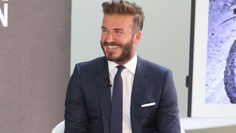 David Beckham: All smiles for England's chances at the World Cup in Brazil