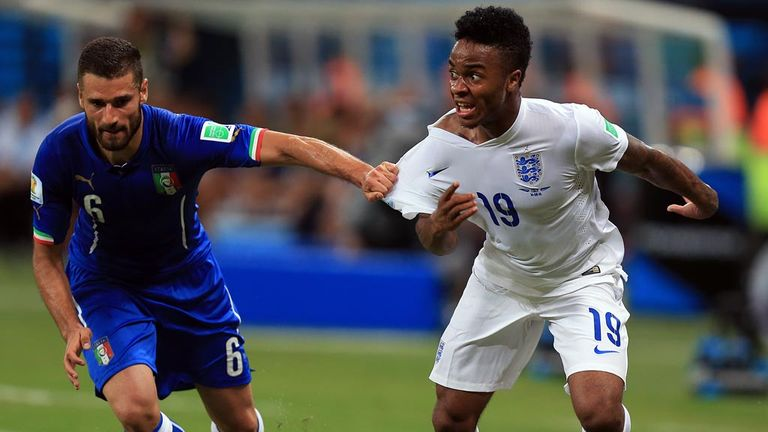 Sterling gave a lively performance against Italy at the World Cup last year